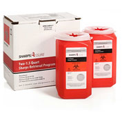 Sharps Assure Two 1.5 Quart Sharps Retrieval Program