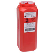 Post Medical 2 Quart Leak-tight Sharps Container with Locking Screw Cap, Red, 12/CS