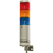 Patlite AR-078-021-3-RYG Atex Zone 2/22, Continuous/Flashing Light W/Alarm, Wall Mount, RYG, 24V