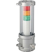 Patlite EDLM-312FEA-RYG FM/Atex Approved Signal Tower, RYG Light, AC120V