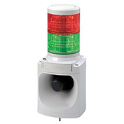 Patlite LKEH-202FEUL-RG Smart Alert Plus LED Light And Horn, Red/Green Light, Off White, DC24V
