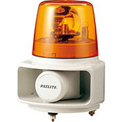 Patlite RT-120E-Y+FC015 Smart Alert Plus Rotating Beacon & Horn W/32 Sounds, Amber Light, AC120V