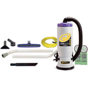 "ProTeam® 6 Qt. Super QuarterVac HEPA Backpack Vac w/14"" Floor Tool, Wand Kit - 107108"