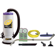 "ProTeam® 6 Qt. Super QuarterVac HEPA Backpack Vac w/14"" Floor Tool, Telescoping Wand - 107118"