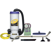 "ProTeam® 10 Qt. Super CoachVac HEPA Vac Backpack w/14"" Floor Tool, Telescoping Wand - 107119"