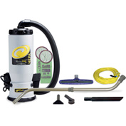 "ProTeam® 6 Qt. QuietPro BP HEPA Backpack Vac w/14"" Floor Tool, Telescoping Wand Kit - 107146"