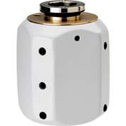 Hoffman A845DSC, J Box, Dome Cover, Contoured, Type 4, 8.00X4.00X3.75, Steel/Gray