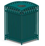 Novak Series 38 Gal. Metal Waste Receptacle - Green