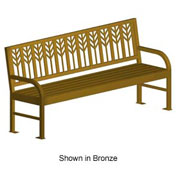 "Spencer Metal Frame Bench 74"" Bronze"