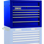 "Proto J453427-5BL 450HS 34"" Top Chest - 5 Drawer, Blue, 34""L X 27""H X 25""D"