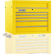 "Proto J453427-5YL 450HS 34"" Top Chest - 5 Drawer, Yellow, 34""L X 27""H X 25""D"