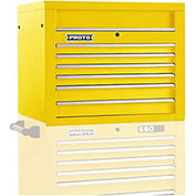 "Proto J453427-6YL 450HS 34"" Top Chest - 6 Drawer, Yellow, 34""L X 27""H X 25""D"