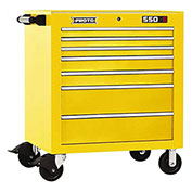 "Proto J453441-7YL 450HS 34"" Roller Cabinet - 7 Drawer, Yellow, 34""L X 41""H X 25""D"
