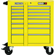 "Proto J453441-8YL 450HS 34"" Roller Cabinet - 8 Drawer, Yellow, 34""L X 41""H X 25""D"