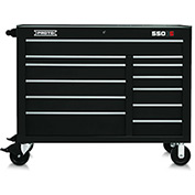 "Proto J455041-12BK 450HS 50"" Workstation - 12 Drawer, Black, 50""L X 41""H X 25""D"