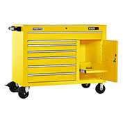 "Proto J455041-7YL-1S 450HS 50"" Workstation - 7 Drawer & 1 Shelf, Yellow, 50""L X 41""H X 25""D"