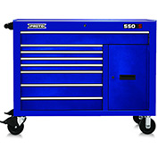"Proto J455041-8BL-2S 450HS 50"" Workstation - 8 Drawer & 2 Shelves, Blue, 50""L X 41""H X 25""D"