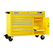 "Proto J455041-8YL-2S 450HS 50"" Workstation - 8 Drawer & 2 Shelves, Yellow, 50""L X 41""H X 25""D"