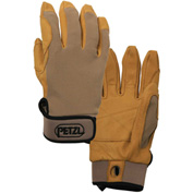 Petzl® Cordex Belay/Rappel Gloves, Leather/Nylon, Tan, Large, 1-Pair