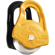 Petzl® Partner Pulley, Steel/Aluminum, Gold/Black