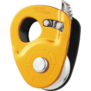 Petzl® Micro Traxion Pulley Rope Grab, Steel/Aluminum, Gold