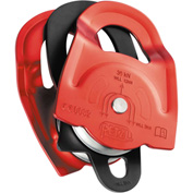 Petzl® Twin Prusik Minding Pulley, Steel/Aluminum, Red/Black