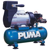 Puma LA5706, Single Stage Oil-Less Direct Drive Air Compressor, 1.5 Gallon, 1 HP, Horizontal