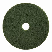 "Boss Cleaning Equipment 17"" Green-Scrub Pad - Pkg Qty 5"