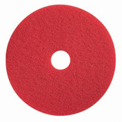 "Boss Cleaning Equipment 18"" Red-Spray Buff Pad - Pkg Qty 5"