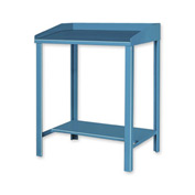 "36""W x 30""D Open Steel Shop Desk - Blue"