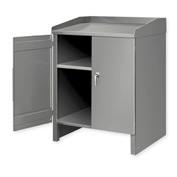2 Shelf Cabinet Shop Desk Gray