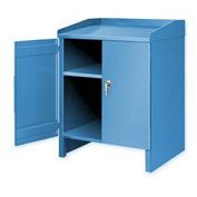 2 Shelf Cabinet Shop Desk Blue