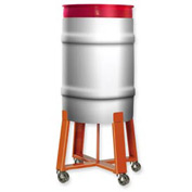 """Pucel™ #73 High Drum Dolly with Steel Casters - 21""""W Orange"""