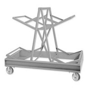 Pucel™ 85C Drum Storage Rack with Steel Casters - Gray