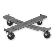 "Pucel™ AD-15 Adjustable Drum Dolly Rubber Casters - 14-1/4"" to 19-1/4"""