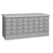 Drawer Base Bench - Steel Top Gray