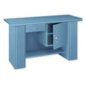 Drop Front Top Bench - 1 Drawer 1 Cabinet Blue