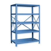 "Pucel™ Shelving Unit, 42""W x 72""H x 18""D, 5 Levels, 14 GA Shelves, 10 GA Posts, Lt Blue"