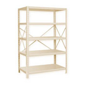 "Pucel™ Shelving Unit, 42""W x 72""H x 18""D, 5 Levels, 14 GA Shelves, 10 GA Posts, Putty"