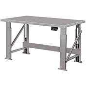 "Electric Hydraulic Bench w/ Steel Top - 96""W x 28""D Gray"