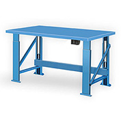 "Electric Hydraulic Bench w/ Steel Top - 72""W x 34""D Blue"