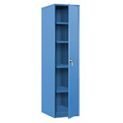"Single Door Storage Cabinet - 18""W x 24""D x 72""H Blue"