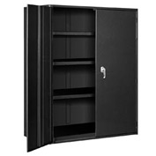 "Extra Heavy Duty Storage Cabinet - 48""W x 24""D x 60""H Black"