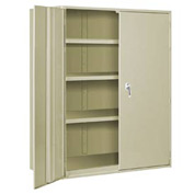 "Extra Heavy Duty Storage Cabinet - 48""W x 24""D x 60""H Putty"
