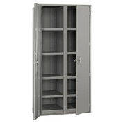 "Partitioned Storage Cabinet - 48""W x 24""D x 72""H Gray"
