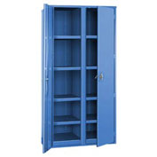 "Partitioned Storage Cabinet - 48""W x 24""D x 72""H Blue"