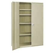"Extra Heavy Duty Storage Cabinet - 48""W x 19""D x 84""H Putty"