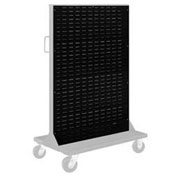 "Pucel Louvered Panel 36"" x 61"" for Portable Bin Cart Black"