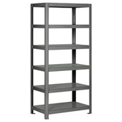 "Pucel - All Welded Steel Shelving - 36""W x 18""D Gray"