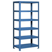 "Pucel - All Welded Steel Shelving - 36""W x 18""D Lt Blue"